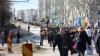 Manifestaţii cu incidente. Unioniştii spun CINE a lansat alertele cu bombă