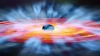 Vânt de raze ultraviolete de 1/5 din viteza luminii. S-a descoperit o nouă gaură neagră gigant