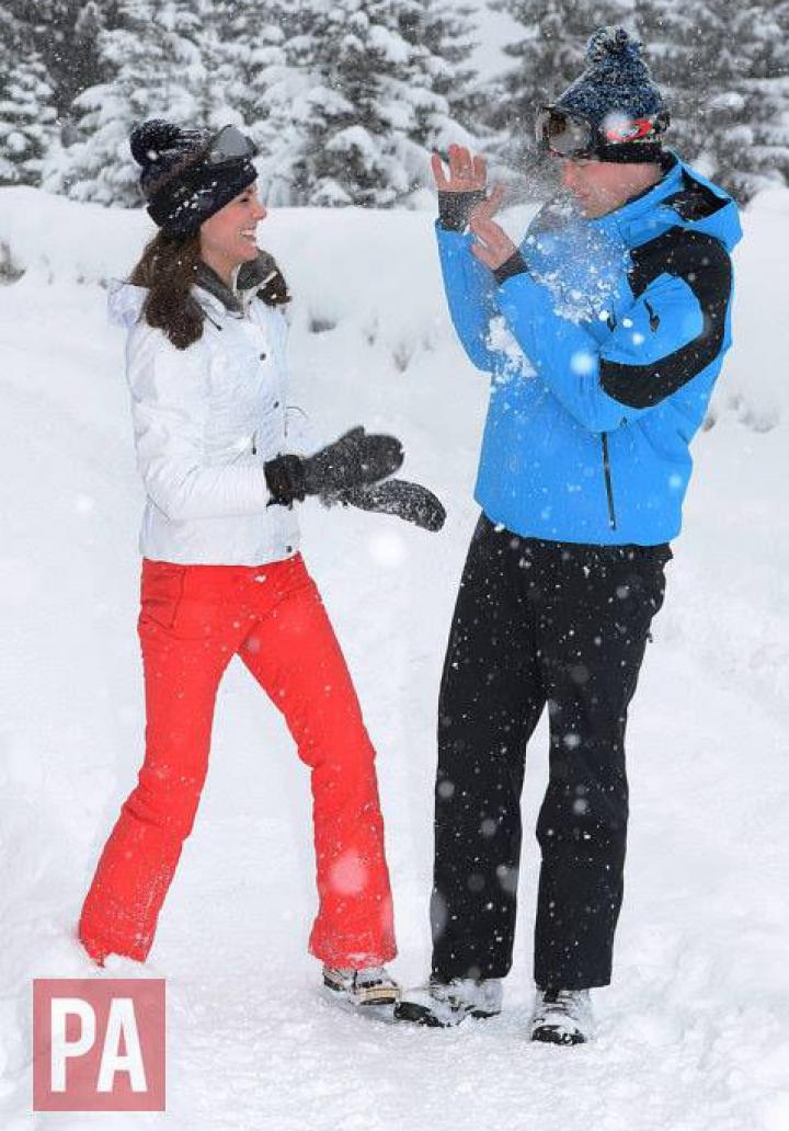 Ducele şi Ducesa de Cambridge, în prima vacanţă de iarnă cu copiii, în Alpii francezi (FOTO)