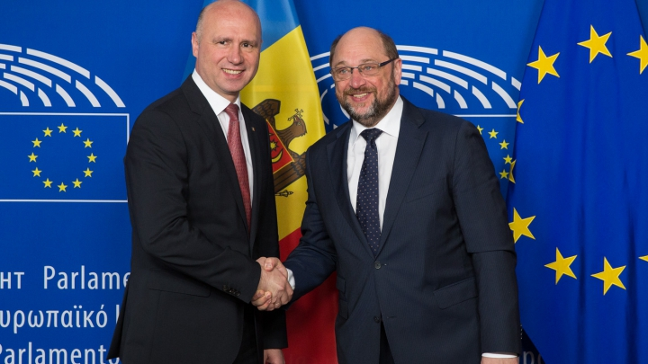 Premierul Pavel Filip s-a întâlnit cu președintele Parlamentului European. Ce au discutat oficialii