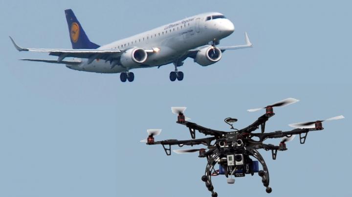 DE NECREZUT! Sute de pasageri ai unui avion Lufthansa, puși în pericol de o DRONĂ