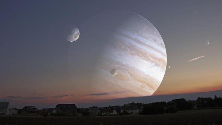 Fenomen extrem de rar! Jupiter va putea fi văzut marți pe cerul nocturn