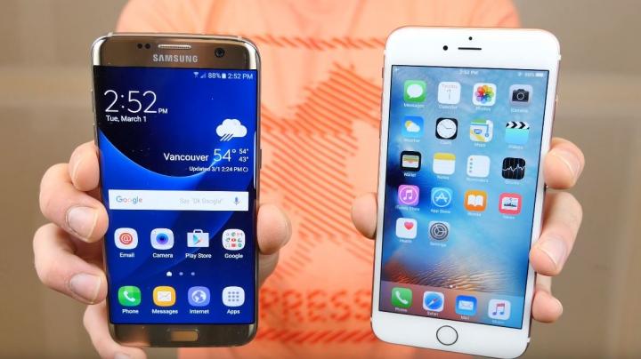 LUPTA TITANILOR: Samsung Galaxy S7 Edge vs iPhone 6S Plus. Cine câștigă la rezistență (VIDEO)