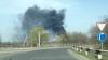 INCENDIU în apropiere de Capitală! O coloană de fum negru şi dens se vede din depărtare (FOTO/VIDEO)