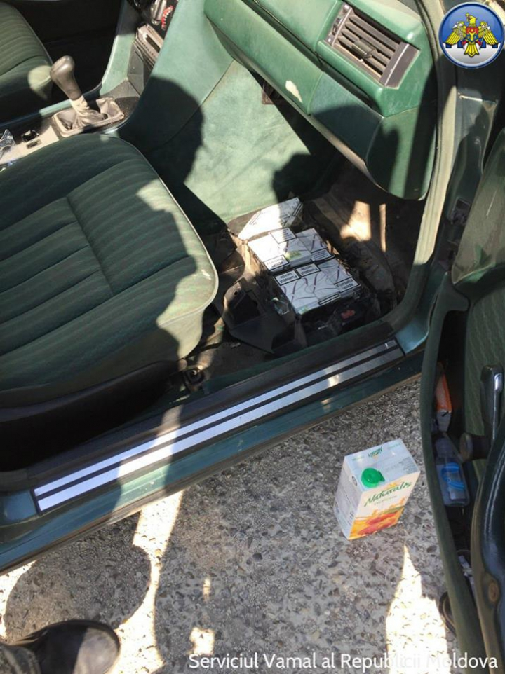 PRINS cu ţigări de contrabandă. Vigilenţa vameşilor de la Cahul a fost de neînvins (FOTO)