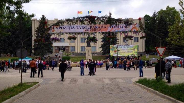 Străzile centrale ale Cimişliei s-au transformat în adevărate grădini pline cu flori