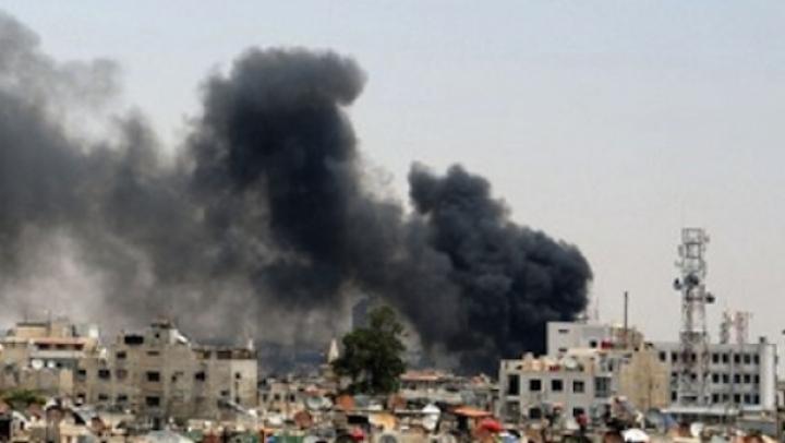 BOMBARDAMENT în orașul Duma, la est de Capitala Damasc. 13 persoane au murit, iar alţi 22 au fost răniţi