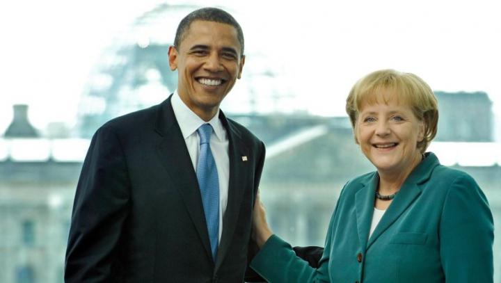 Barck Obama a promis că o va învăţa pe Angela Merkel să joace golf