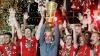 Cum au celebrat jucătorii bavarezi câştigarea eventului în acest sezon, campionatul şi Cupa Germaniei
