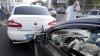 O șoferiță AGRESIVĂ din Capitală i-a luat la bătaie pe polițiști după ce a făcut PRĂPĂD în trafic (VIDEO)