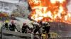 Incendiu înfiorător în China: Un zgârie-nori, cuprins de flăcări (VIDEO)