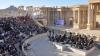 Ruşii au organizat un concert de zile mari printre ruinele oraşului Palmira, celebrând victoria asupra ISIS