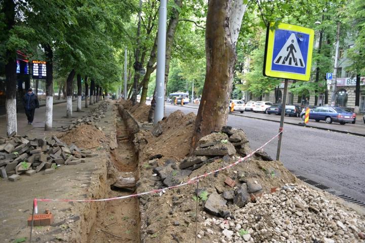 Lucrări de reconstrucție pe bd. Ștefan cel Mare. PRECIZĂRILE Primăriei Chişinău (FOTO)