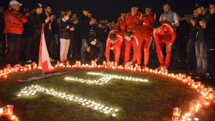 DOLIU la Dinamo Bucureşti! Imagini EMOŢIONANTE de pe stadionul unde a murit Patrick Ekeng