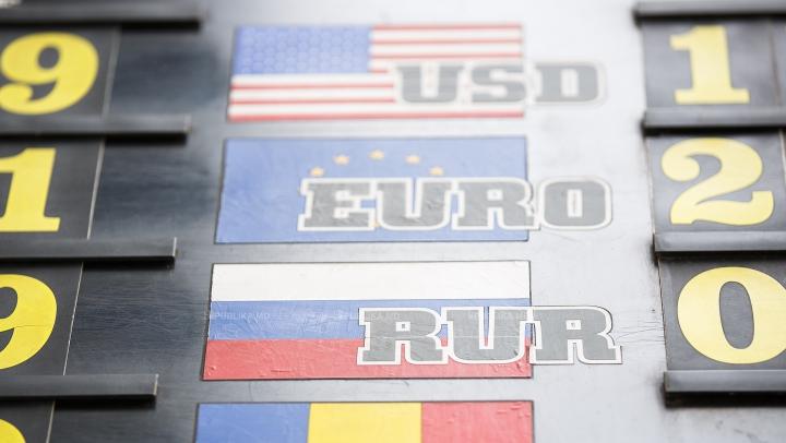 CURS VALUTAR 23 august 2017: Leul moldovenesc nu îşi schimbă poziţia faţă de moneda unică europeană
