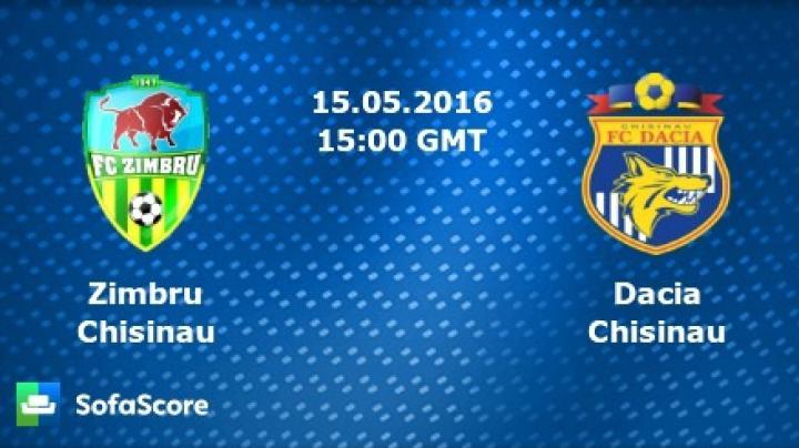 Meci de foc în Divizia Națională de fotbal! Zimbrii vs. Lupii Galbeni din Chişinău