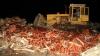 38 de tone de căpşuni din Ucraina, STRIVITE de buldozerele ruseşti (FOTO)
