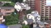 MOMENTUL în care o casă se prăbuşeşte din cauza alunecărilor de teren (VIDEO)