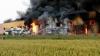 INCENDIU PUTERNIC la o fabrică de încălţăminte din Jilava! Un pompier a murit în misiune (VIDEO)