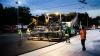 Cum arată Piaţa Marii Adunări Naţionale în timpul lucrărilor de asfaltare (FOTOREPORT NOCTURN)