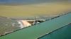 Imagini fascinante cu locul unde Marea Neagră îmbrățișează Dunărea (VIDEO)