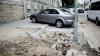 NU S-A PUTUT ABŢINE! Un bărbat iar a furat pavaj de pe bulevardul Ştefan cel Mare (VIDEO)