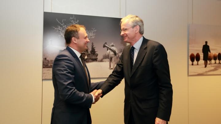 Christian Danielsson la întrevederea cu Andrian Candu: Moldova este o prioritate pentru UE