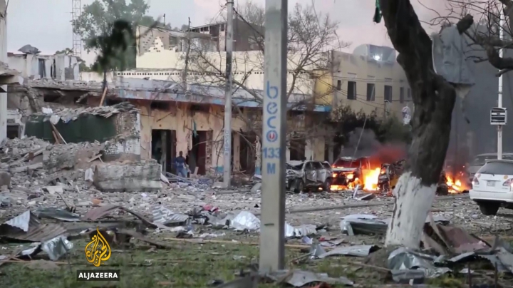 18 oameni au ARS DE VII în urma unui atentat terorist în Somalia