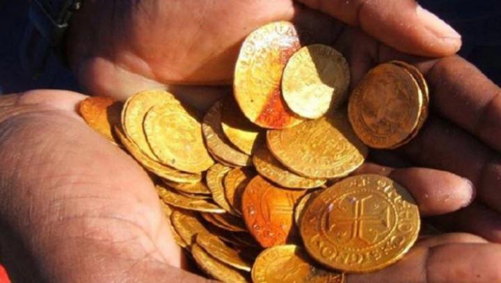 O epavă plină cu aur, veche de 500 de ani, descoperită în deşert. Care este valoarea aurului găsit