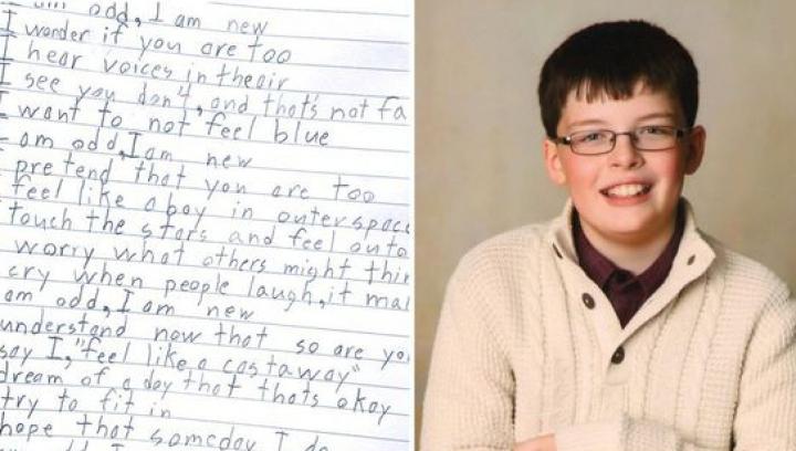 A UIMIT o lume întregă! Poezia pe care a scris-o un copil suferind de autism