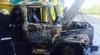 Alertă la Bălți! Un camion a luat foc pe teritoriul unei stații de alimentare cu gaz (FOTO)