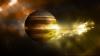 FENOMEN SPECTACULOS! Imaginea surprinsă deasupra planetei Jupiter (FOTO)