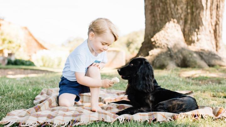 Prințul George împlinește trei ani! Ce mesaj a postat familia regală (FOTO)