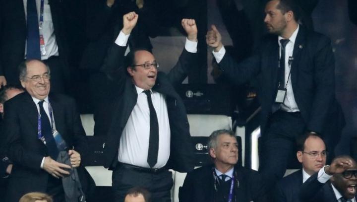 EURO 2016. REACŢIA lui Hollande când francezii au marcat cel de-al doilea gol în poarta germanilor (VIDEO)