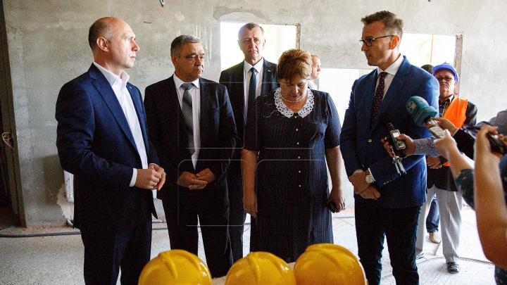 Pavel Filip a inspectat șantierul de construcție al noului sediu al Palatului Justiţiei din Ungheni
