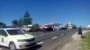 GRAV ACCIDENT pe traseul Chişinău-Leuşeni! Două maşini, făcute ZOB (FOTO)