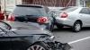 Accident în lanţ în Capitală cu implicarea a şapte automobile, printre care şi un microbuz de linie