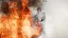 INCENDIU DE PROPORŢII la Basarabeasca: Un bloc de locuit, cuprins de flăcări (VIDEO/FOTO)