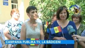 """Campania """"Eu sunt Moldova"""" a ajuns în satul Bădiceni"""