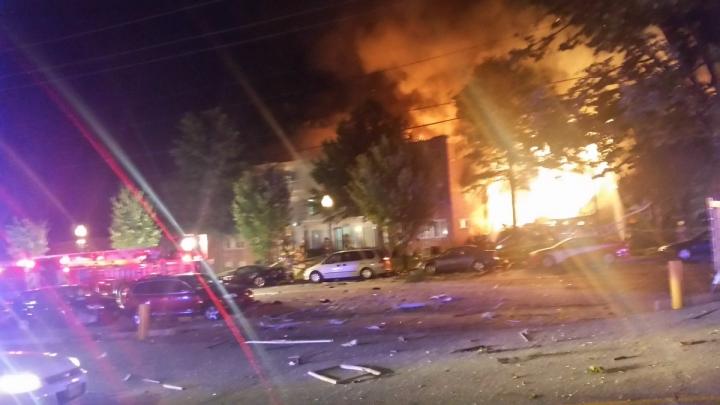 Zeci de persoane, rănite într-o explozie produsă la periferia oraşului Washington