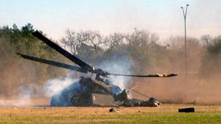Un elicopter s-a prăbușit la Kiev. Două persoane rănite