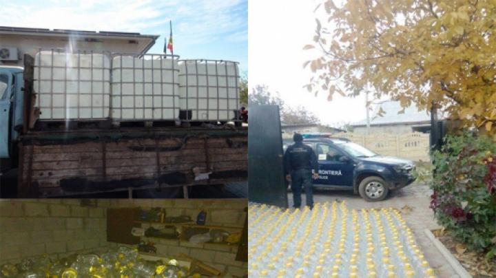 Alcool etilic în valoare de TREI MILIOANE DE LEI, confiscat de poliţişti (VIDEO)