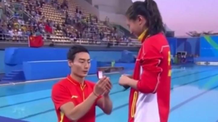 Emoţii la Jocurile Olimpice! O sportivă din China a fost cerută în căsătorie după ce a câştigat medalia de argint