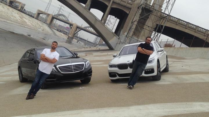 BMW 750i vs. Mercedes-Benz S550. Care rival se descurcă mai bine (VIDEO)