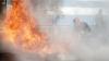 INCENDIU la Cantemir: O femeie a fost transportată la spital