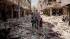 IMAGINI ÎNDUIOŞĂTOARE! Doi copii AU FOST scoşi de sub dărâmăturile din Aleppo (VIDEO/FOTO)