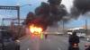 Un autocar cu pasageri a luat foc din mers: Trei oameni s-au intoxicat cu fum (VIDEO)