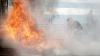 SCENE DRAMATICE pe o autostradă: 18 maşini au fost făcute scrum, după ce un camion a luat foc