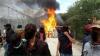 Grecia: O tabără de refugiaţi a fost cuprinsă de flăcări. În urma incendiului, patru mii de imigranți au fugit