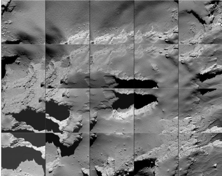 Sonda spaţială Rosetta a reuşit să aterizeze pe o cometă. IMAGINI de pe suprafaţa corpului ceresc